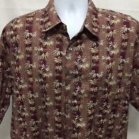 Tori Richard Mens Floral Hawaiian Shirt Sz XL Made In USA Cotton Lawn
