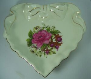 La Dolce Vita by JA Designs Summer Rose Collection Heart Trinket Plate