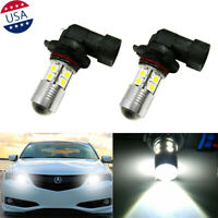 2x 9005 6000K White LED Daytime Running Light Bulbs For Acura ILX TSX MDX TL RL