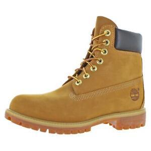 Timberland Mens Premium Brown Nubuck Lace-Up Boot Shoes 15 Medium (D) BHFO 5473