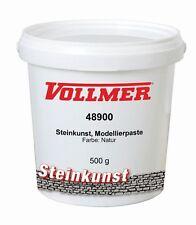 Vollmer 48900 Steinkunst, Modellierpaste, Farbe Natur, 500 g