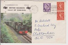 GB SPECIAL EVENT COVER BRITISH RAILWAYS VALE OF RHEIDOL PRESTON PMK