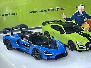 Mini GT 272 Tarmac Works Shmee 1:64 Mclaren Senna Blue HK ToyCar Toy Fair 2021