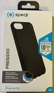 "NEW Genuine Speck Presidio Slim Rugged Case for iPhone 8 / 7 (4.7"") - Black"