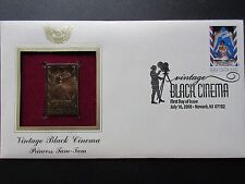 Princess Tam Tam Vintage Black Cinema 2008 22kt Gold GOLDEN Cover Replica Stamp