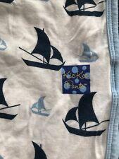 """KicKee Pants NWOT Swaddle 28""""x 38"""" Sailboats"""