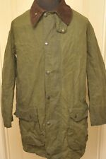 "BARBOUR BORDER A200 WAX COTTON JACKET GREEN 42"" / 107 CM VINTAGE"