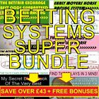 Betfair Betting Systems/Strategies Pro Package Horse Racing + Soccer + Trading!