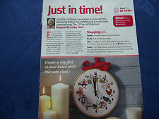 JUST IN TIME MUCH LOVED 12 DAYS OF CHRISTMAS FABULOUS CLOCK  CROSS STITCH CHART