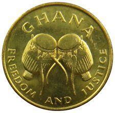 (M14) - Ghana - 5 Cedis 1984 - Buschtrommeln  Adowa drums - UNC - KM# 26