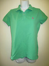 Vintage Ralph Lauren POLO Green Short Sleeved Polo Shirt L UK 12/14 Euro 40/42
