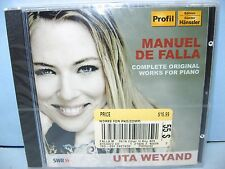 Manuel De Falla COMPLETE WORKS FOR PIANO, Uta Weyand, Profil-Gunter Hanssler New