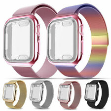 Magnetic Metal Band Strap+Full Case Cover For Apple Watch Series 5 4 3 2 40/44MM