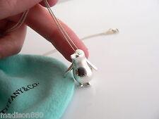Tiffany & Co Silver Nature Penguin Bird Necklace Pendant Charm 18 In Chain Rare