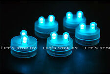 70 TEAL SUPER Bright Dual LED Tea Light Submersible Floralyte Party Wedding