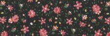 1 Metre Length Country Calico 100% cotton Fabric - 46153 Black