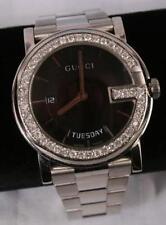 Mint Men's Gucci YA101305 black dial 1.25ct.aprx.custom set real  Diamond Watch