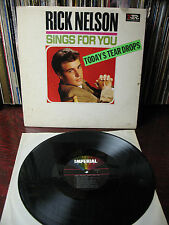 RICKY  NELSON   SINGS  FOR  YOU   IR LP 9251  VG++    EX