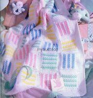 Crochet Pattern Baby Blanket Nursery Blocks