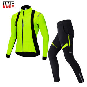 Winter Cycling Jacket & Trousers Outfits Thermal Fleece Warm Jerseys Clothing