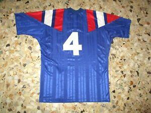 Maillot porté shirt worn jersey maglia trikot EQUIPE DE FRANCE N° 4 1993 U 21