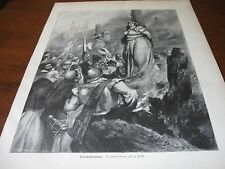 1894 Art Print ENGRAVING - Burning a WITCH at the Stake BURN WITCHES WITCHCRAFT