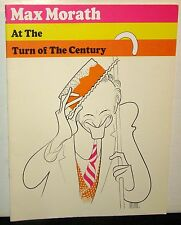 Max Morath At The Turn of the Century Souvenir Program, 1969