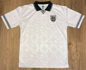 England 1991 Score Draw official retro reproduction home shirt size L