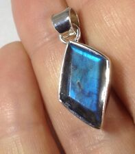labradorite faceted pendant, Solid Sterling Silver, chain, actual one, UK 🇬🇧