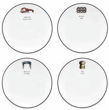 Kate Spade Concord Square Tidbit Party Plates SET/4 Cause A Stir Lenox New