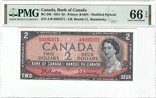CANADA 2 Dollars 1954, BC-38b Beattie / Rasminsky, PMG 66 EPQ Gem UNC, QEII Type