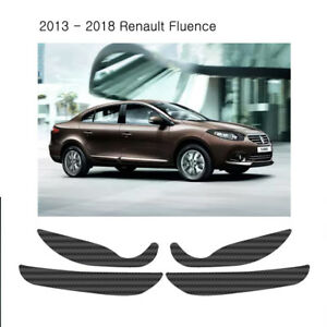 Carbon Fabric Inside Door Panel Anti Scratch for 2013 - 2018 Renault Fluence