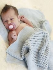 BABY/knitting pattern for baby blanket 60 x 80 cm  4ply