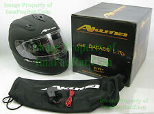 BRAND NEW AKUMA SPECTER Motorcycle Helmet 2X-Large with LED Lights XXL Black