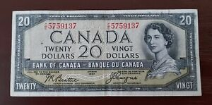 Canada $20 devils face note.