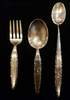 VERY GOOD CONDITION Details about  /LUNT LACE POINT STERLING SILVER SALAD FORK