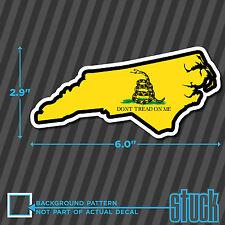 "North Carolina State Don't Tread On Me - 6.0""x2.9"" - printed vinyl decal sticker"