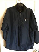 CAPPEL Men's Pullover Navy Blue Lightweight Fleece Lined Jacket -Size Large. EUC