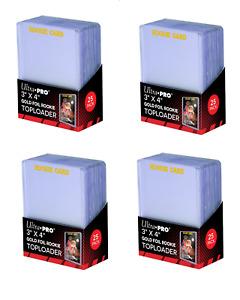 (100) Ultra Pro Gold Foil Rookie Card Topload Card Holder Toploaders Toploads