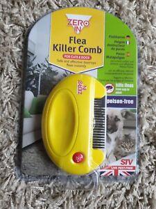 Zero In Flea Killer Comb For Dogs Cats Poison Free - Kills Dog Cat Eggs