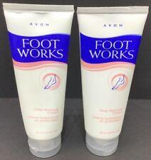 2 Avon Foot Works Deep Moisturizing Cream 2.5 FL. OZ Each Also Good For Legs NEW