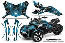 CAN-AM BRP SPYDER F3 GRAPHICS KIT CREATORX DECALS SPIDERX BLUE ICE