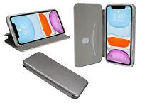 Book-Style Handy Hülle Tasche ELEGANC Grey für iPhone 11