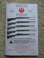 hard to find! Original 2012 Ruger 10//22 Owner/'s Manual