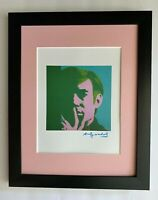 ANDY WARHOL + 1984 SIGNED SELF PORTRAIT PRINT MATTED TO BE FRAMED AT11X14