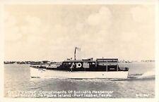 Betty Rose, Sullivan's Passenger Boat Services, Port Isabel, Texas, RPPC!