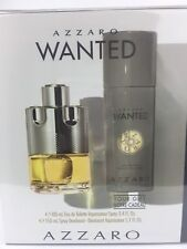 AZZARO WANTED By AZZARO 2PC GIFT SET Men Cologne Spray 3.4 OZ + DEO NEW IN BOX