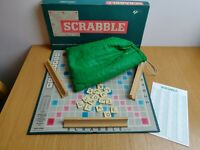 Scrabble Spears Games 1955 Vintage - All Tiles Included - Boxed Retro Board Game