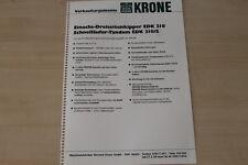 163373) Krone Einachs Dreiseitenkipper EDK 210 - Verkaufsargumente - Prospekt 19