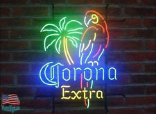 "Corona Extra Parrot Palm Tree Neon Sign 20""x16"" From USA"